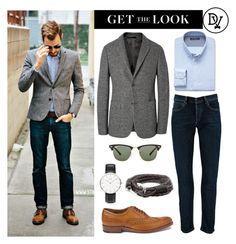 autumn look by dappervigilante on polyvore featuring daniel wellington ray ban calvin klein collection banana republic and grenson