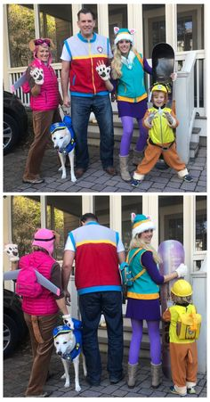 Paw Patrol-Familiengruppe Halloween-Kostüm - Skye, Chase, Ryder, Everest und Rubble Source by vdudic Rubble Paw Patrol Costume, Chase Paw Patrol Costume, Paw Patrol Halloween Costume, Paw Patrol Outfit, Toddler Halloween Costumes, Halloween Fun, Paw Patrol Dress Up, Marshall Paw Patrol Costume, Family Costumes For 4
