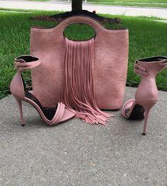 FRINGE EFFECT Blush - THE WARDROBE Ankle Strap Heels, Ankle Straps, Hot Shoes, Shoes Heels, Heeled Sandals, Bootie Heels, Stiletto Heels, Tan Heels, Sexy Heels