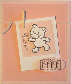 Pas-à-pas : faire-part naissance ourson