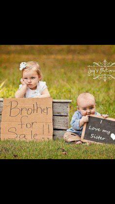 sooo cute !! sibling pictures
