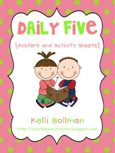 Castles and Crayons: The Daily Five posters and activity sheets