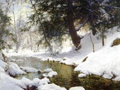 Walter Launt Palmer_ November Snow 1903.( 1854 – 1932, Albany, New York)…