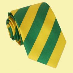 Yellow Green Stripes Formal Boys Ages 7-13 Wedding Straight Boys Neck Tie