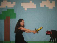 Minecraft party photoshoot