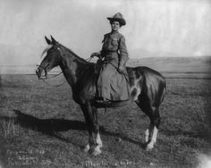 1903 - Cowgirl in Montana. From Buddies in the Saddle: About Mary Etta Stickney, Brown of Lost River (1900).