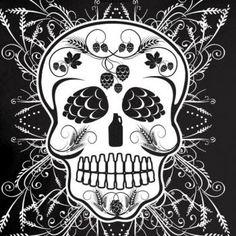Craft Beer Sugar Skull Women's Graphic Tee