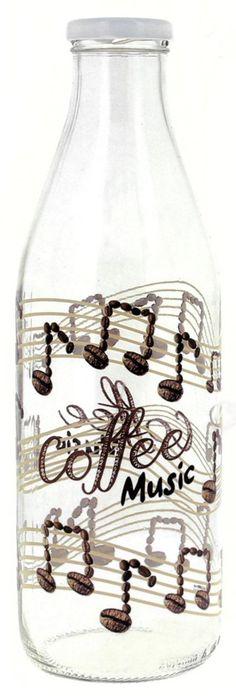 Die etwas andere Milchflasche im musikalischen Design - so macht Milch holen beim Bauern Spaß!