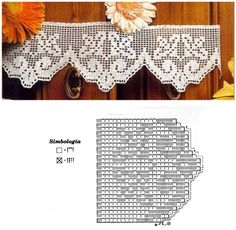 albums renda e crochet Crochet Border Patterns, Crochet Curtain Pattern, Crochet Lace Edging, Crochet Curtains, Tatting Patterns, Thread Crochet, Crochet Designs, Crochet Doilies, Crochet Flowers