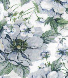 9db630cbdec Knit Fabric 57''-Lily Pads on Aqua   Fabric   Knitted fabric ...