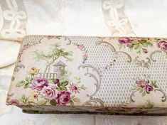 Antique FRENCH FABRIC Box PARIS romantic Boudoir style | Etsy
