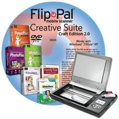 Flip-pal mobile scanner with Creative Suite Craft Edition DVD: http://www.amazon.com/Flip-pal-mobile-scanner-Creative-Edition/dp/B004X1NGUS/?tag=cheap136203-20