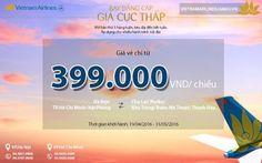 Bay đẳng cấp – giá cực thấp chỉ 399k cùng Vietnam Airlines