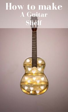 Learn to make the totally awesome guitar shelf to fill up that unwanted wall space in your home. This step by step tutorial shows you exactly how to recreate this fantastic home decor with total ease and right on budget.