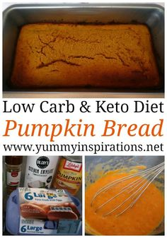 Low Carb Pumpkin Bread Recipe - Easy Keto Pumpkin Bread with coconut flour #keto #ketodiet #ketogenic #ketogenicdiet #ketolife #ketolifestyle #ketorecipes #pumpkin #pumpkinrecipes #pumpkinbread