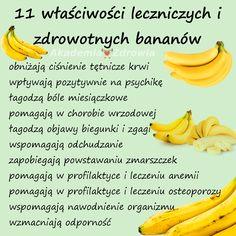 Właściwości zdrowotne bananów - Zdrowe poradniki Banana, Wellness, Fruit, Health, Tips, Food, Salud, Health Care, Essen
