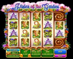 "Graphic design of reel for the game slot machine ""Pixies of the garden""  http://slotopaint.com/"