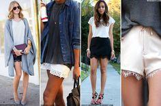 Lace Trim Shorts   sheerluxe.com