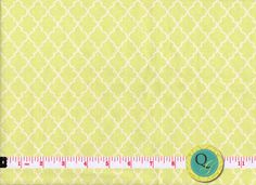 Designer Fabric By the Yard Lime Citrus Lattice by QuiltingGarden, $7.49