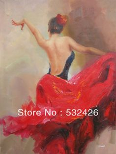 29 Ideas For Art Painting Oil Woman Canvases Dancer Tattoo, Dancer Drawing, Spanish Dancer, Spanish Art, Art Espagnole, Art Quotes Funny, Canvas Art Quotes, Dance Paintings, Oil Painting On Canvas