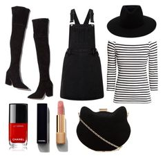 """""""Funny Charlotte in a Godard's movie."""" by emmy-st-jean on Polyvore featuring Loeffler Randall, Lipsy, H&M, rag & bone, Chanel and New Look"""