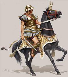 Греческий всадник середины 4 в. до н.э.