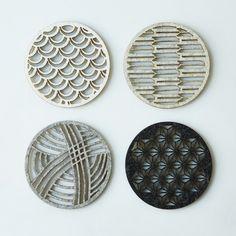 geometric felt coasters | Molly M Designs