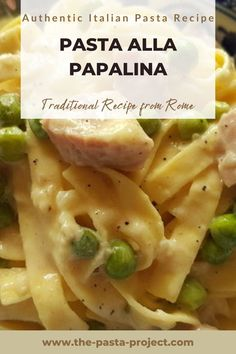 Traditional recipe from Rome: easy to make, delicious, ideal for weeknight meal and to bring the flavours of Italy to your table with a recipe that kids, family and friends will love. Interested in knowing more about Italian culture and food? SUBSCRIBE MY NEWSLETTER by clicking through to my site. Subscribers get a series of free pasta recipe e-books to collect! #italianrecipe #italianpasta #traditionalrecipe #traditionalpasta #familyrecipe #porkrecipe #weeknightrecipe #thepastaproject Fettuccine Recipes, Creamy Pasta Recipes, Italian Pasta Recipes Authentic, Italian Recipes, Easy Meals For Kids, Easy Food To Make, How To Cook Ham, How To Cook Pasta, Pork Recipes