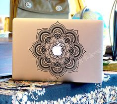 flowers Decal for Macbook Pro, Air or Ipad Stickers Macbook Decals Apple Decal for Macbook Pro / Macbook Air 0052