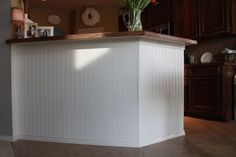 Trendy Kitchen Island Ideas Beadboard Wainscoting Ideas - All About Decoration Kitchen Island Makeover, Kitchen Island Decor, Kitchen Redo, New Kitchen, Kitchen Ideas, Kitchen Updates, Pantry Ideas, Kitchen Stools, Kitchen Islands