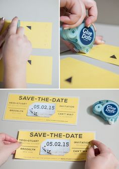 DIY Wedding // Magnet Save the Date Invitations + free editable design print-outs!!!
