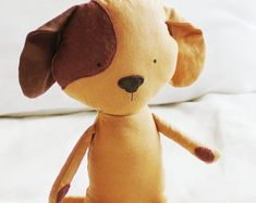 Dog Sewing Pattern Puppy Softie Plush Toy Cloth Doll Pattern PDF