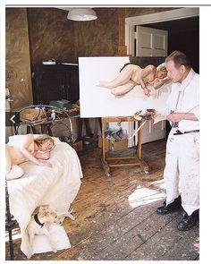 Lucian Freud in his studio, 2007 David Dawson