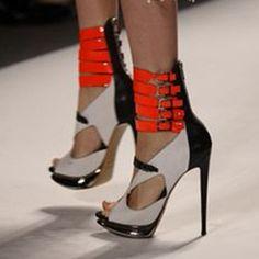 Shoespie Wild Sexy Cut Out Peep Toe Platform Heels