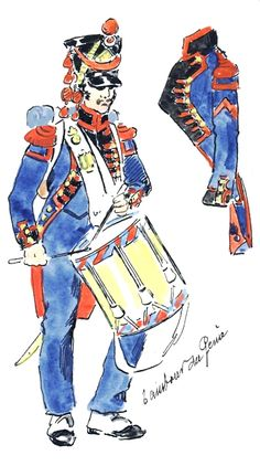 French; Imperial Corps of Engineers, Drummer