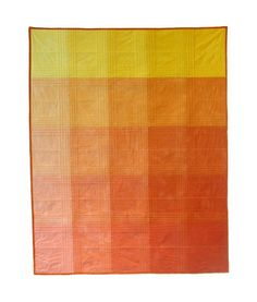 Orange Color Block Quilt by kimem on Etsy Quilting Tips, Quilting Projects, Quilting Designs, Modern Quilting, Cute Blankets, Quilt Modernen, Paint Chips, Quilt Making, Baby Quilts