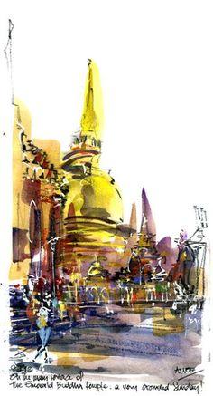 Bangkok - Asnee Yasna, Urban Sketcher
