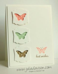 Clean and Simple Butterfly Punchouts by juls716 - Cards and Paper Crafts at Splitcoaststampers