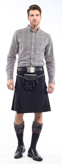 Men's Commando Kilt - Sewn Down Pleats, Cargo Pockets & Belt Loops | SportKilt.com
