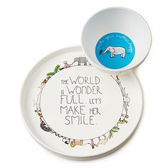 The world is wonderful plate set! So cute!