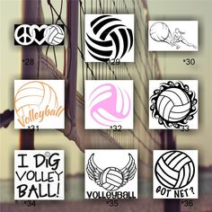Custom Volleyball Decal Volleyball Volleyballmom Customdecal - Team window decals personalized