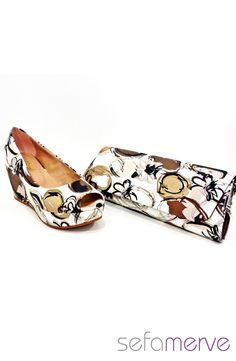 İlgi Hazal Dolgu Topuk Ayakkabı 14301 01 Kahverengi
