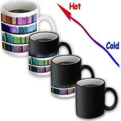 Colorful Bookshelf Transforming Mug, Mugs for Book Nerd