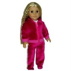 Doll clothes sized perfectly to fit any American Girl or 18 inch doll. Our doll clothes are also perfect for other 18 inch dolls like Magic Attic, Generation Girl and Madame Alexander Dolls. Our adorable 3 pc velour Princess Sport Suit fit for royalty. The zip-up hoodie features beautifully detailed embroidery with the word PRINCESS across the back. Long sleeve tee shirt and high quality velour pants feature a silver stripe down the leg make this the ultimate doll clothes outfit for 18 in…