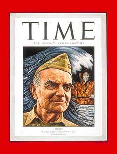 TIME Magazine Cover: Adm. William Halsey - July 23, 1945 - Admirals - Navy - World War II - Military