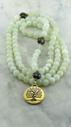Tree of Life Mala 108 Mala Beads by SaltSpringMalas on Etsy, $108.00