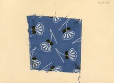 Floral and geometric print on cotton. Unknown manufacturer. Late 19th century.