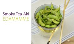 The fresh and light, edammame beans are great as a snack or appetizer. Seasoned with our Smoky Tea-Aki seasoning make these an addicting healthy choice!
