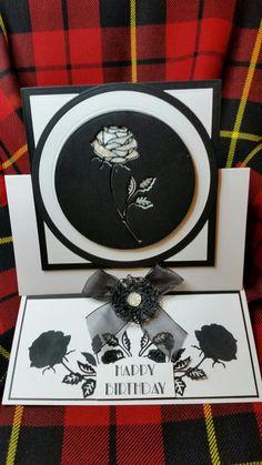 Rose easel card