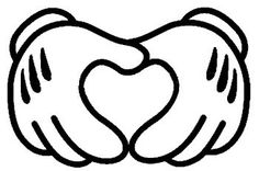 Mickey Mouse Heart Hands 6 Black Car Truck Vinyl Decal Art Wall Sticker USA Disney Fun Adorable Cute *** Visit the image link more details.
